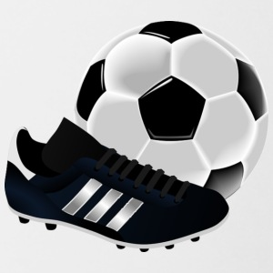 soccer ball with cleat - Contrast Coffee Mug