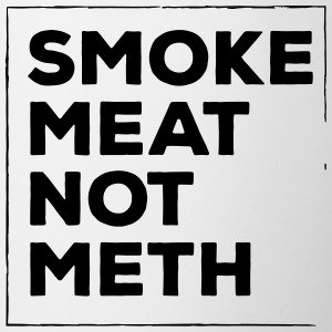 Smoke meat not meth - Contrast Coffee Mug