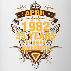 April 1982 35 Years of Being Awesome - Contrast Coffee Mug