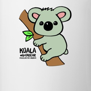 Koala Cute. Art by Paul Bass, assisted by Mollie. - Contrast Coffee Mug