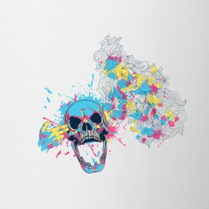 COLORED SKULL - Contrast Coffee Mug