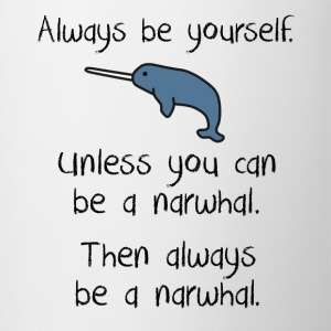 Always be a narwhal funny cute design. - Contrast Coffee Mug