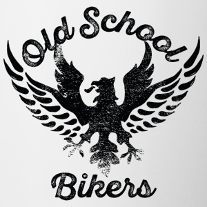 Old School Bikers eagle wings inscription - Contrast Coffee Mug