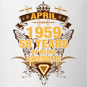 April 1959 58 Years of Being Awesome - Contrast Coffee Mug