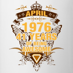 April 1976 41 Years of Being Awesome - Contrast Coffee Mug