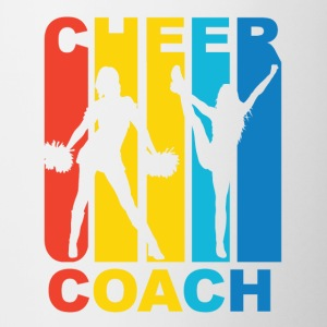 Vintage Cheer Coach Cheerleading Graphic - Contrast Coffee Mug