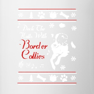 Border Collie Xmas Shirt - Contrast Coffee Mug