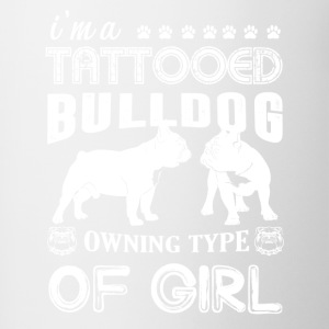 Tattooed Bulldog Shirt - Contrast Coffee Mug