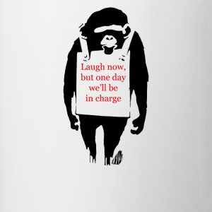 Laugh Now Monkey Sandwich - Contrast Coffee Mug