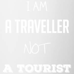 I am a traveller not a tourist - Contrast Coffee Mug