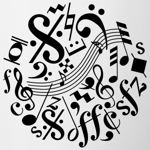 Music Notes and Signs - Contrast Coffee Mug