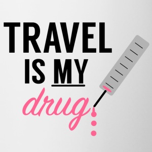Travel Is My Drug! - Contrast Coffee Mug