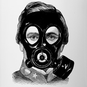 Gas mask Man - Contrast Coffee Mug