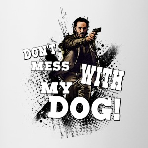 Don't mess with my dog T-Shirt - Contrast Coffee Mug