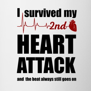 I survived my second Heart Attack - Contrast Coffee Mug