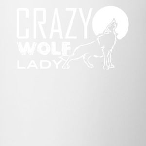 Crazy Wolf Lady Shirt - Contrast Coffee Mug