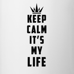 keep calm it's my life - Contrast Coffee Mug