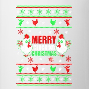 Merry Clucking Christmas Shirt - Contrast Coffee Mug