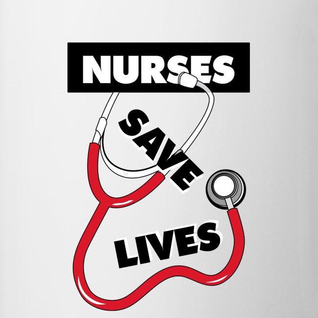 Nurses save lives red