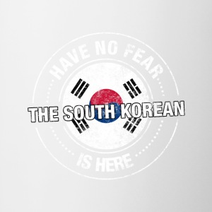 Have No Fear The South Korean Is Here - Contrast Coffee Mug