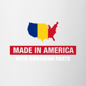 Made In America With Romanian Parts Romania Flag - Contrast Coffee Mug