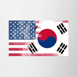 Korean American Half South Korea Half America Flag - Contrast Coffee Mug