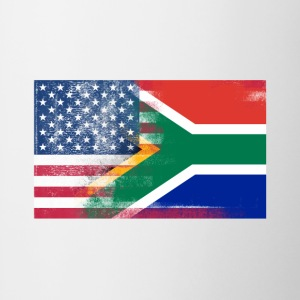 South African American Half South Africa Half Flag - Contrast Coffee Mug