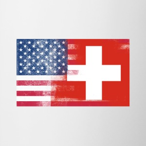 Swiss American Half Switzerland Half America Flag - Contrast Coffee Mug
