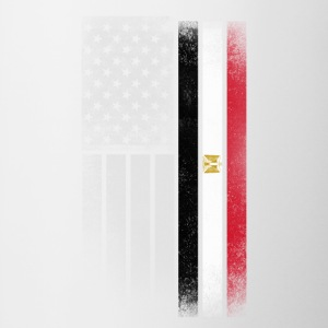 Egyptian American Flag - Contrast Coffee Mug