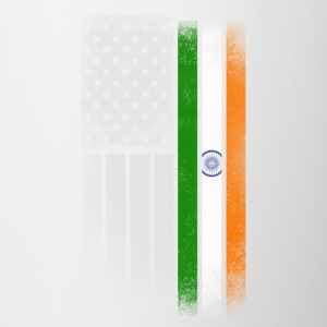 Indian American Flag - Contrast Coffee Mug