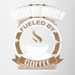 Delivery Driver Fueled By Coffee - Contrast Coffee Mug