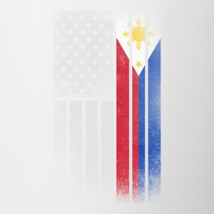 Filipino American Flag - Half Filipino Half Americ - Contrast Coffee Mug