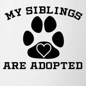 My Siblings Are Adopted - Contrast Coffee Mug