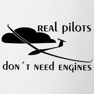real pilots don´t need engines - Glider pilot - Contrast Coffee Mug