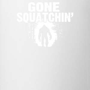 GONE SQUATCHIN FINDING SASQUATCH BIG FOOT - Contrast Coffee Mug