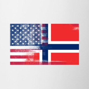 Norwegian American Half Norway Half America Flag - Contrast Coffee Mug
