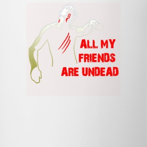 All My Friends Are Undead - Contrast Coffee Mug