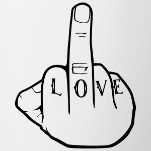 Fuck Love - Middlefinger - Fuck you - Contrast Coffee Mug