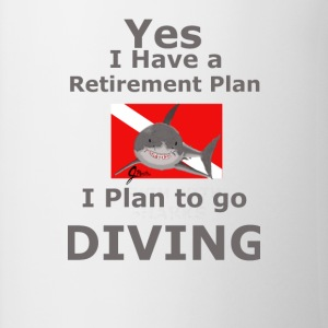 Retirement Plan to go Diving - Contrast Coffee Mug