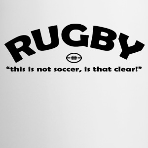 Rugby Not Soccer - Contrast Coffee Mug