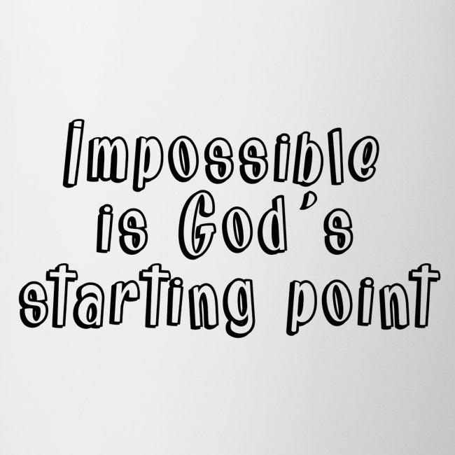 God's starting point