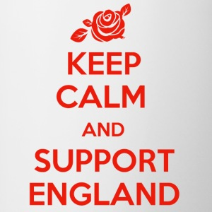 Keep Calm and support England - Contrast Coffee Mug