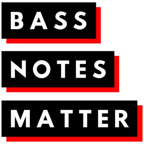Bass Notes Matter Red2 - Contrast Coffee Mug