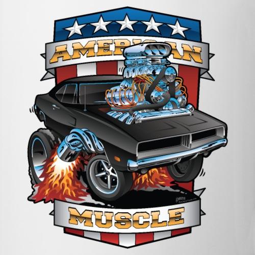 American Muscle Patriotic Muscle Car Cartoon - Coffee/Tea Mug