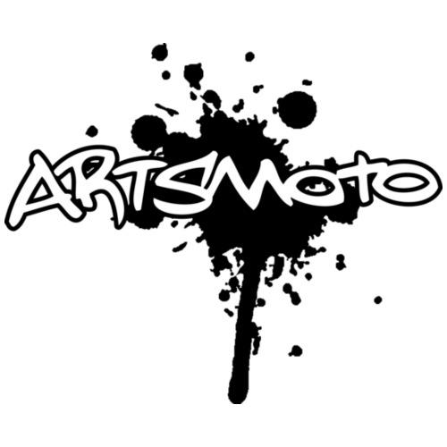 Artsmoto Logo Splatter Black Outline White Fill - Coffee/Tea Mug