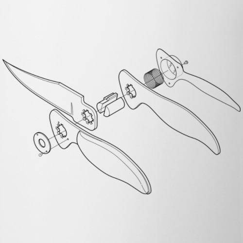 Folder Knife Engineering Drawing - Coffee/Tea Mug