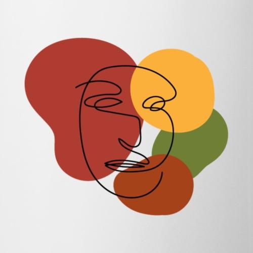 abstract minimalist face - Coffee/Tea Mug