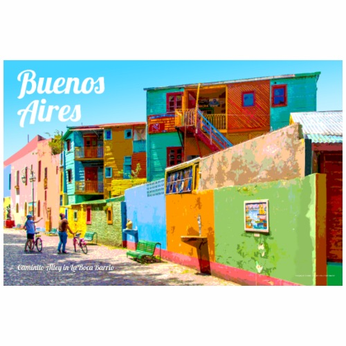 Vintage Buenos Aires Travel Poster - Coffee/Tea Mug