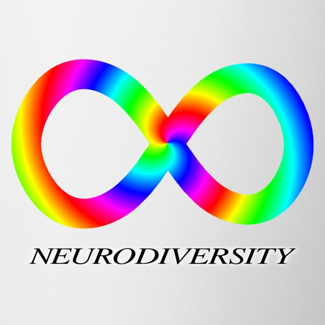 Neurodiversity with Rainbow swirl