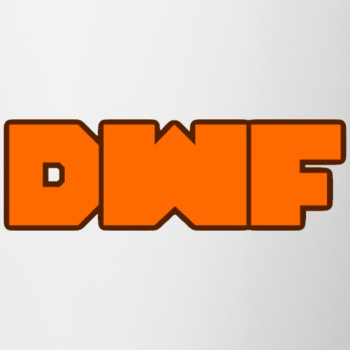 DeWarioFreak (DWF) Logo (orange) - Coffee/Tea Mug